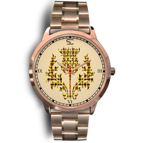 Jardine Tartan Thistle Rose Gold Watch