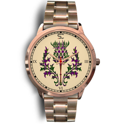 Image of Taylor Tartan Thistle Rose Gold Watch