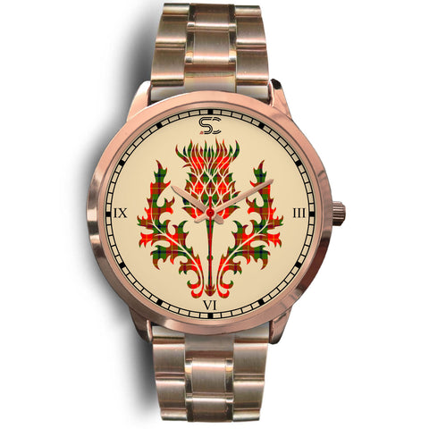 Image of Turnbull Dress Tartan Thistle Rose Gold Watch