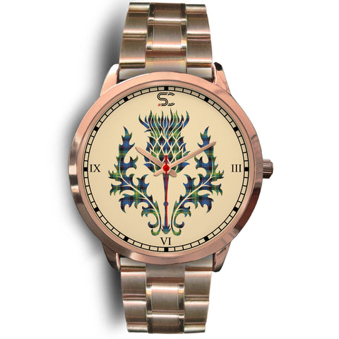 Watson Ancient Tartan Thistle Rose Gold Watch