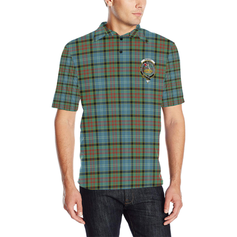 Paisley District Tartan Clan Badge Polo Shirt