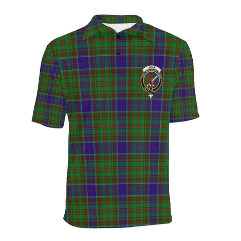 Adam Tartan Clan Badge Polo Shirt HJ4