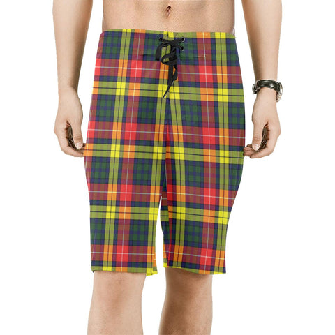 Image of Buchanan Modern Tartan Board Shorts | scottishclans.co