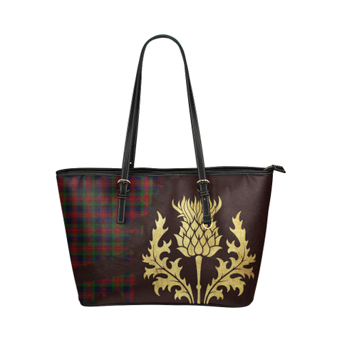 Tennant Tartan - Thistle Royal Leather Tote Bag