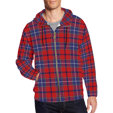 Image of Wishart Dress Tartan Zipped Hoodie | Special Custom Products