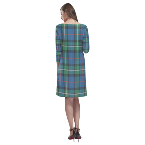 Image of Macphail Hunting Ancient Tartan Dress - Rhea Loose Round Neck Dress TH8