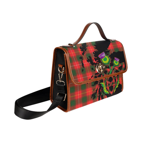 MacPhee Modern Tartan Map & Thistle Waterproof Canvas Handbag| Hot Sale