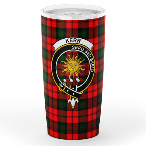 Image of Kerr Tartan Tumbler, Scottish Kerr Plaid Insulated Tumbler - BN