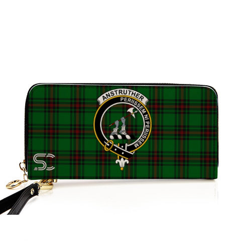 Anstruther Crest Tartan Zipper Wallet