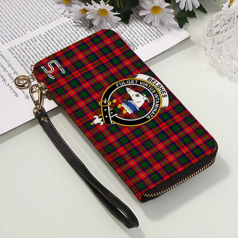 Belshes (Or Belsches) Crest Tartan Zipper Wallet™