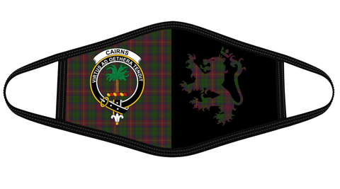 Cairns Clan Badge Lion Mask Tartan Version 2 K6