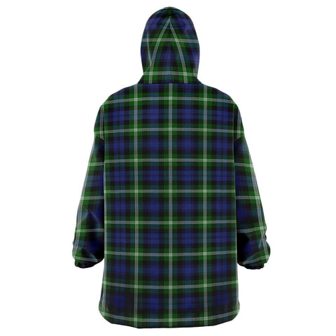 Image of Baillie Modern Snug Hoodie - Unisex Tartan Plaid Back