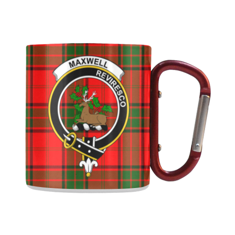 Maxwell Modern Tartan Mug Classic Insulated - Clan Badge | scottishclans.co
