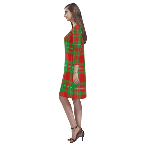 Image of Macgregor Modern Tartan Dress - Rhea Loose Round Neck Dress TH8