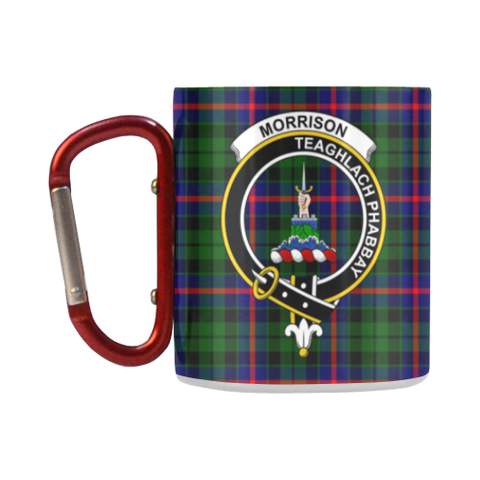 Morrison Modern Tartan Mug Classic Insulated - Clan Badge K7