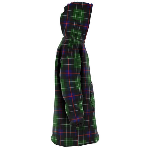 Leslie Hunting Snug Hoodie - Unisex Tartan Plaid Right