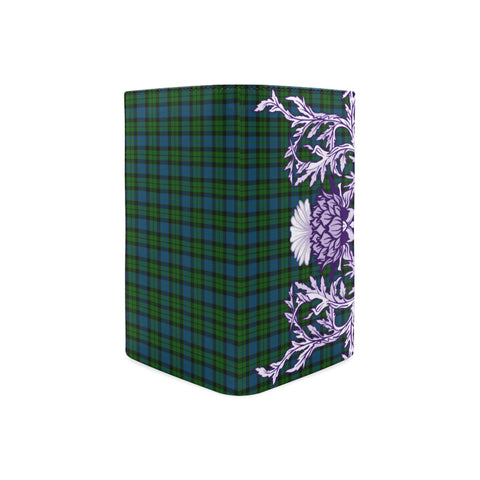 MacKay Modern Tartan Wallet Women's Leather Thistle A91