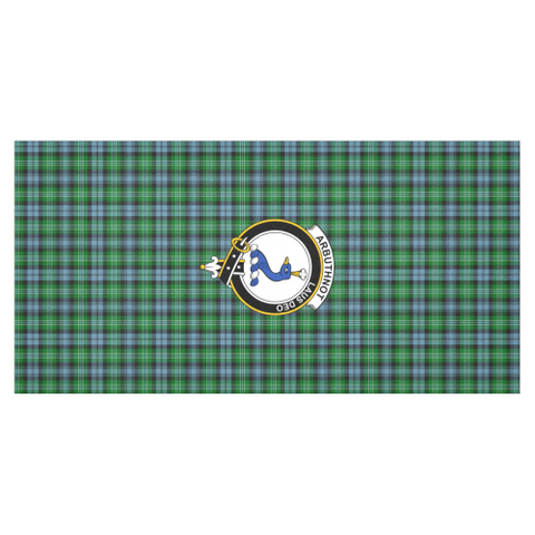 Image of Arbuthnot Crest Tartan Tablecloth | Home Decor