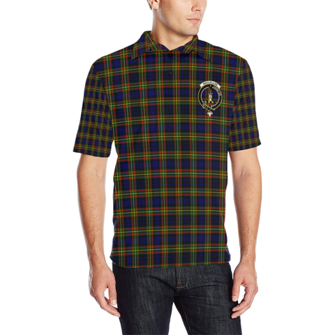 Image of Maclellan Modern Tartan Clan Badge Polo Shirt