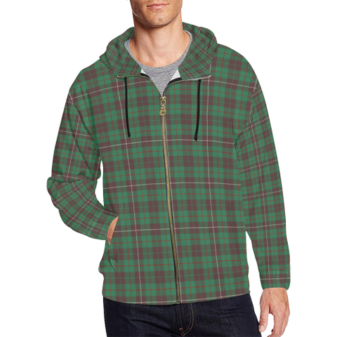 MacKinnon Hunting Ancient Tartan Zipped Hoodie | Special Custom Products