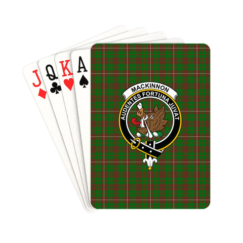 MacKinnon Hunting Modern Tartan Clan Badge Playing Card | scottishclans.co