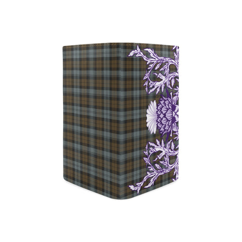 BlackWatch Weathered Tartan Wallet Women's Leather Thistle A91