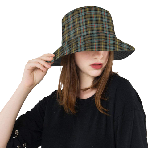 Farquharson Weathered Tartan Bucket Hat for Women and Men | Scottishclans.co