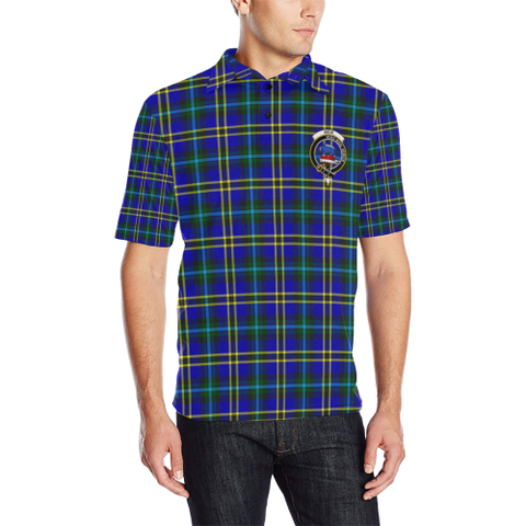 Weir Modern Tartan Clan Badge Polo Shirt