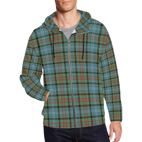 Paisley District Tartan Zipped Hoodie | Special Custom Products