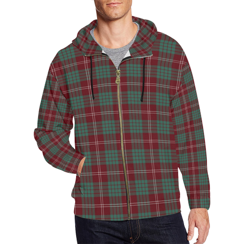 Image of Crawford Modern Tartan Zipped Hoodie | Special Custom Products