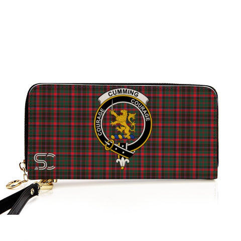 Cumming Hunting Modern Crest Tartan Zipper Wallet