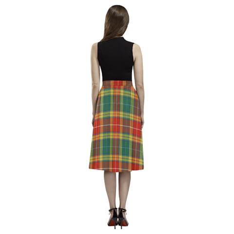 Buchanan Old Sett  Tartan Aoede Crepe Skirt | Exclusive Over 500 Tartan
