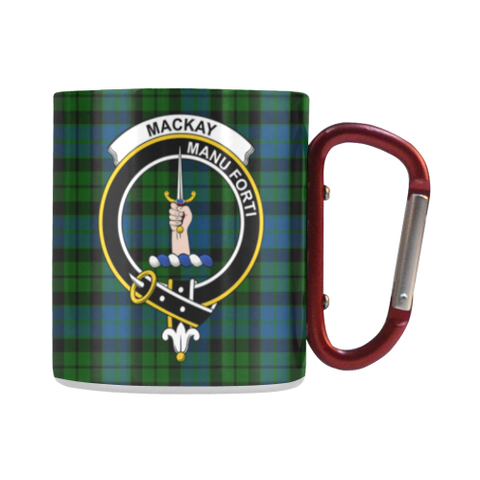Mackay Modern Tartan Mug Classic Insulated - Clan Badge | scottishclans.co