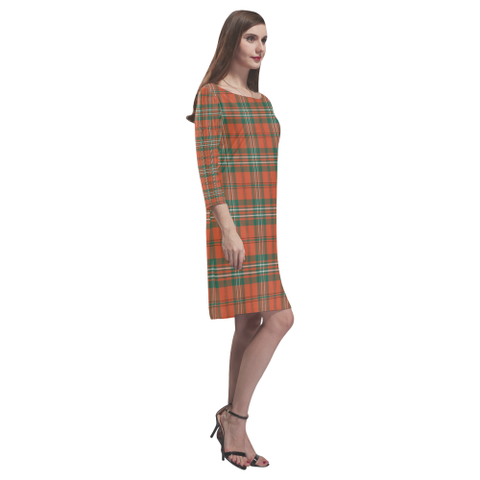 Scott Ancient Tartan Dress - Rhea Loose Round Neck Dress TH8