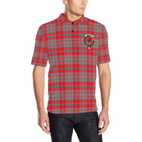 Image of Moubray Tartan Clan Badge Polo Shirt