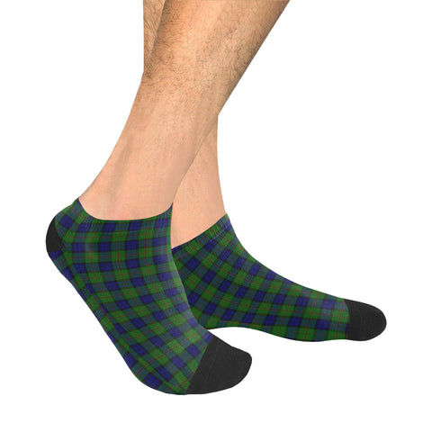 Dundas Modern Tartan Ankle Socks | scottishclans.co