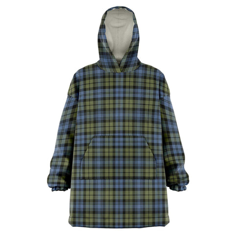 Campbell Faded Snug Hoodie - Unisex Tartan Plaid Front