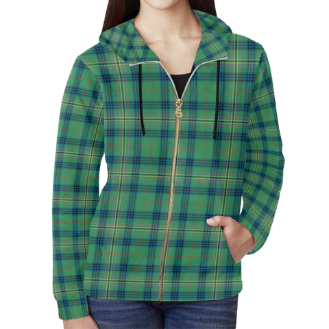 Kennedy Ancient Tartan Zipped Hoodie | Special Custom Products