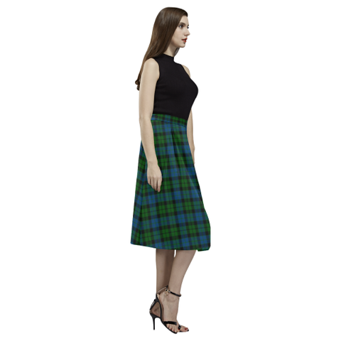 Image of MacKay Modern Tartan Aoede Crepe Skirt | Exclusive Over 500 Tartan