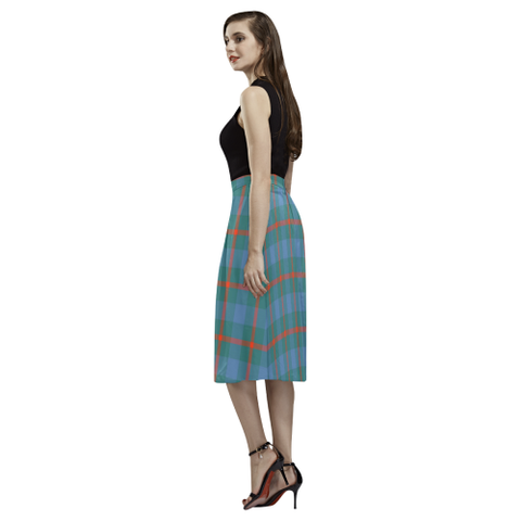Image of Agnew Ancient Tartan Aoede Crepe Skirt | Exclusive Over 500 Tartan