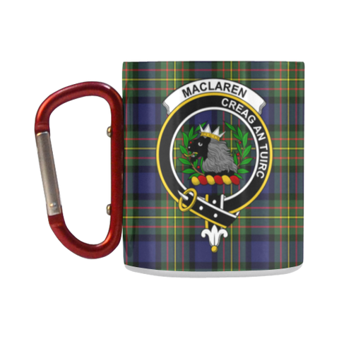 Maclaren Modern Tartan Mug Classic Insulated - Clan Badge K7