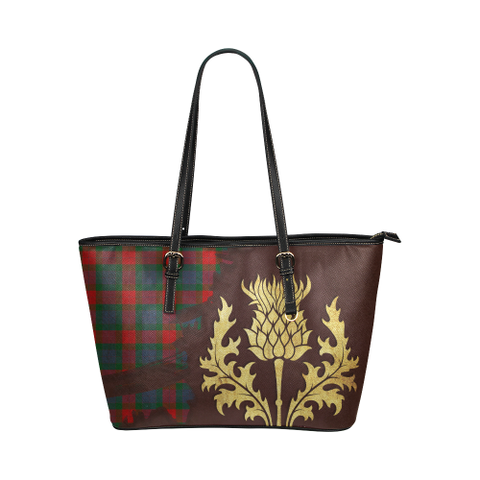 Mar Tartan - Thistle Royal Leather Tote Bag