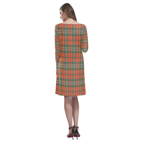 Tartan dresses - Scott Ancient Tartan Dress - Round Neck Dress TH8