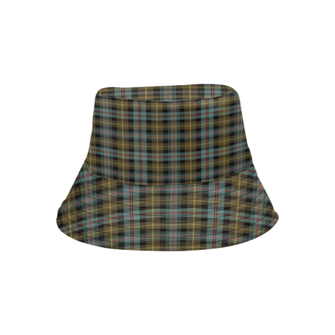 Farquharson Weathered Tartan Bucket Hat for Women and Men