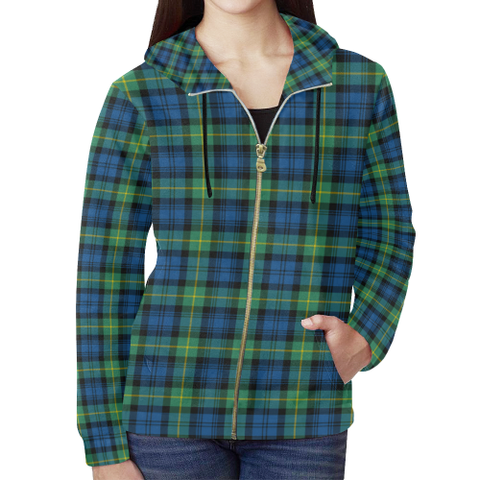 Image of Gordon Ancient Tartan Zipped Hoodie | Special Custom Products