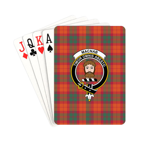 MacNab Ancient Tartan Clan Badge Playing Card | scottishclans.co
