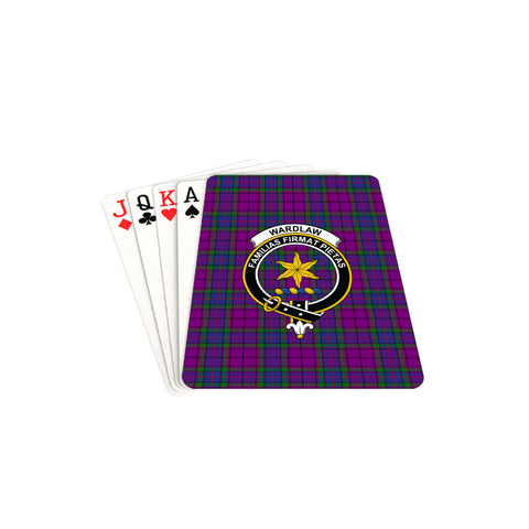 Wardlaw Modern Tartan Clan Badge Playing Card TH8