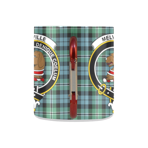 Melville Tartan Mug Classic Insulated - Clan Badge K7