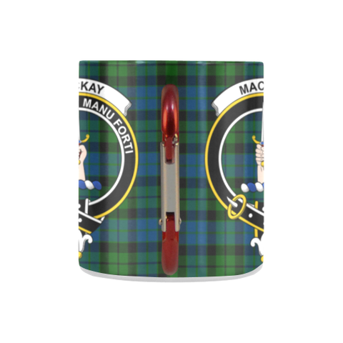 Image of Mackay Modern Tartan Mug Classic Insulated - Clan Badge K7