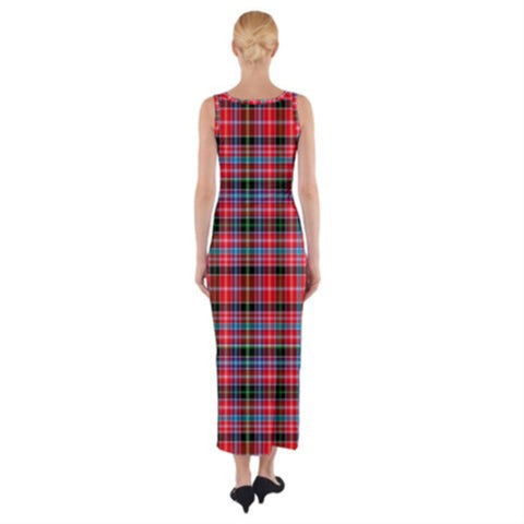 Image of Aberdeen District Tartan Fitted Maxi Dress HJ4